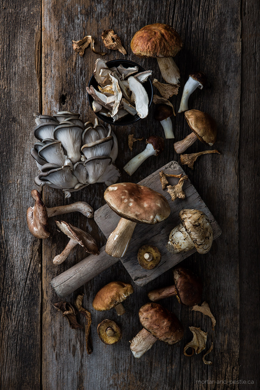 Chicken with wild mushrooms - mortar-and-pestle.ca