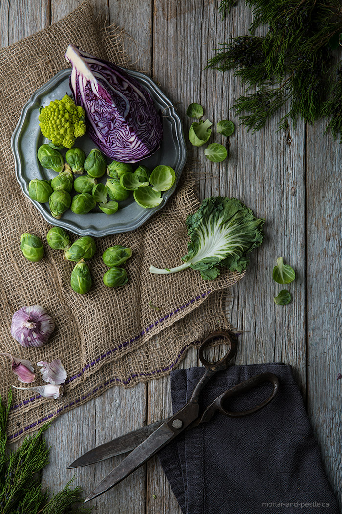 brussels sprots #foodphotography #foodstyling #brassica mortar-and-pestle.ca