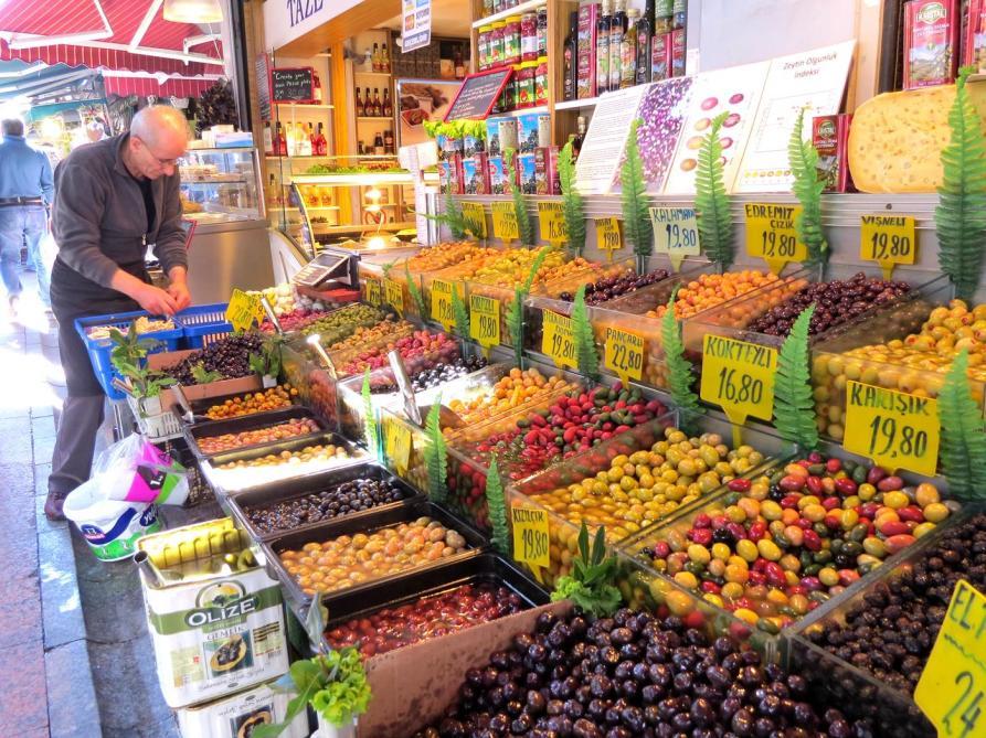Oliven, Markt, Kadiköy, Istanbul