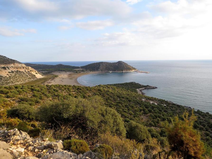 sandige Mittelmeerbucht