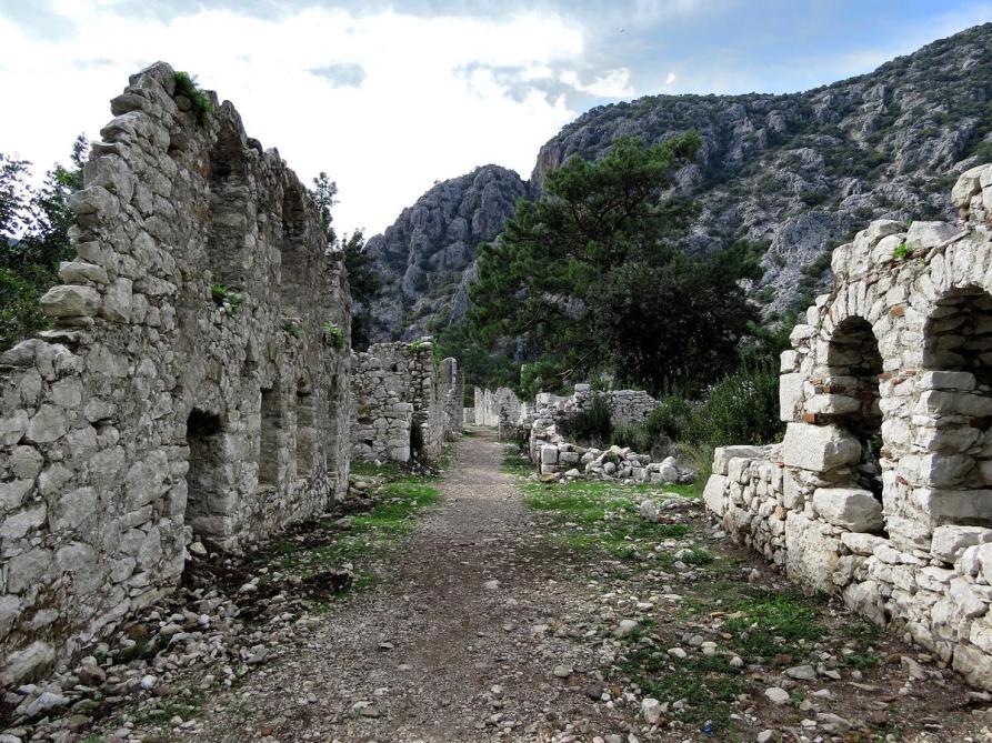 Ruinen in Olympos