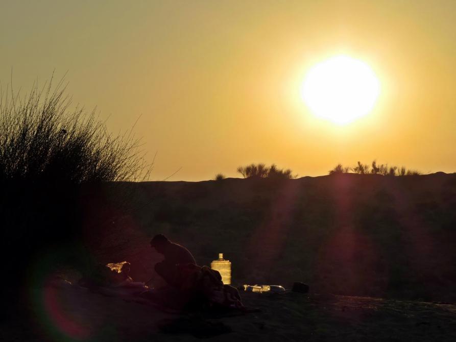 Morgendämmerung über der Wüste Thar
