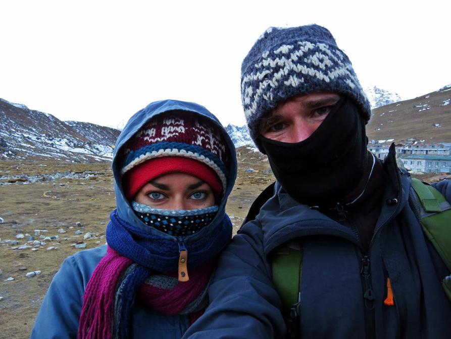 Wanderer im Himalaja