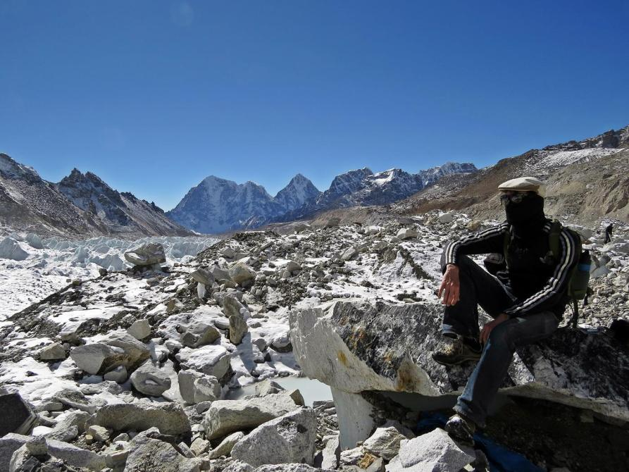 Khumbugletscher, Basislager Mount Everest