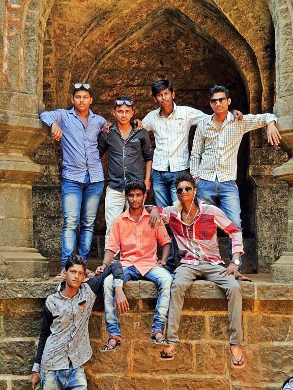 Gruppenfoto in Indien