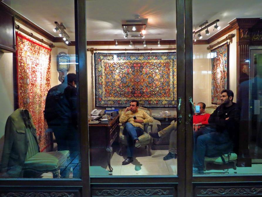 Teppichhändler auf dem Markt