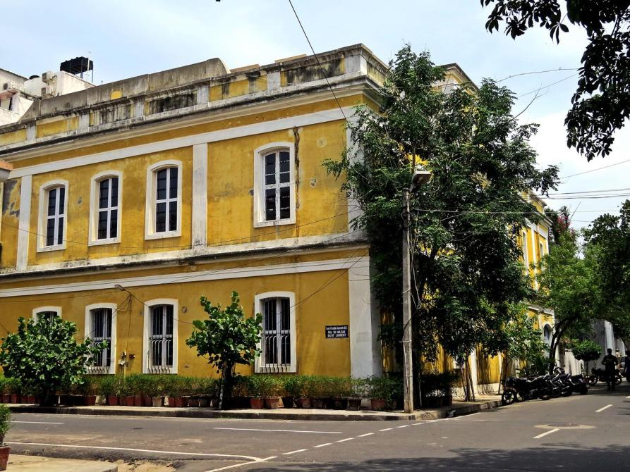 Straßenbild in Pondicherrys Altstadt