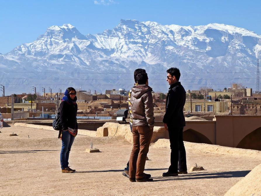 Saryazd und die Berge