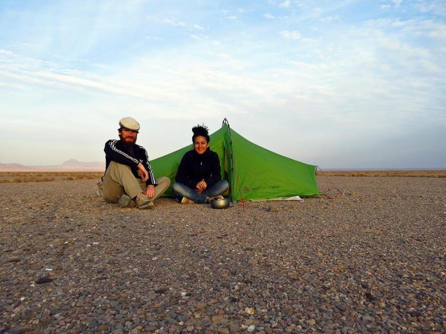 zelten in der Dasht-e Kavir, Iran