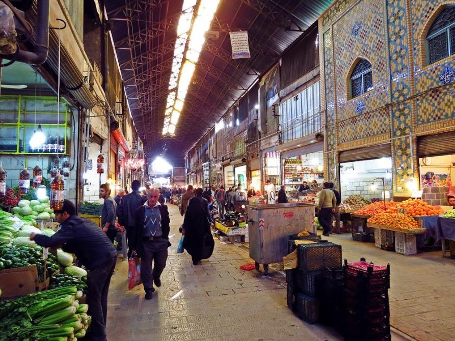 Obst- und Gemüseabteilung, Markt, Qazvin