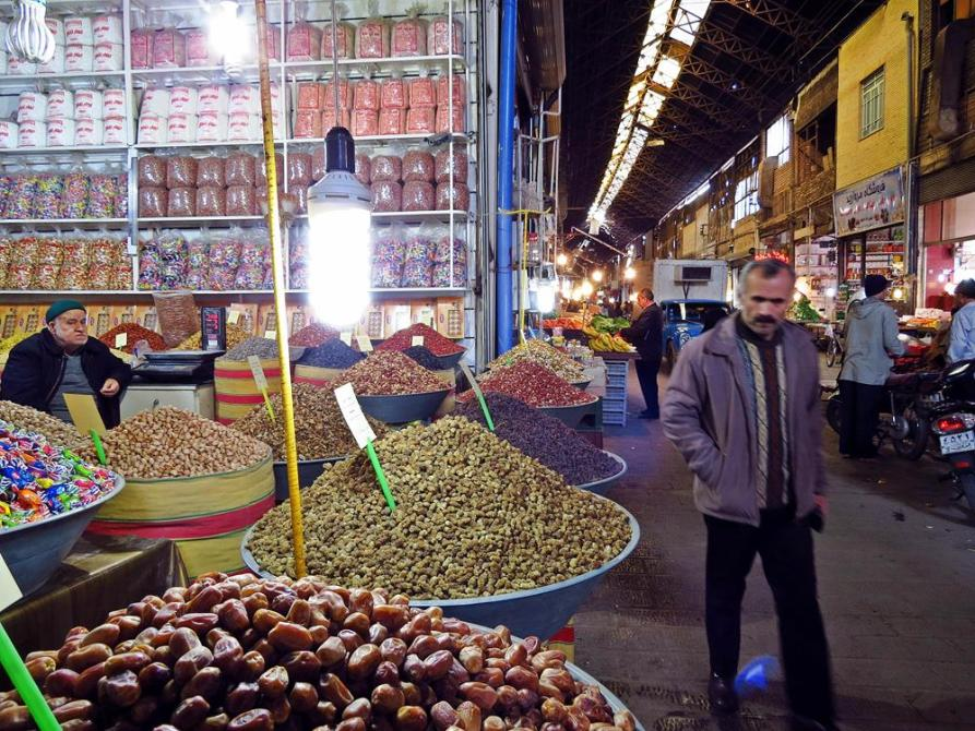 Marktstand in Qazvin