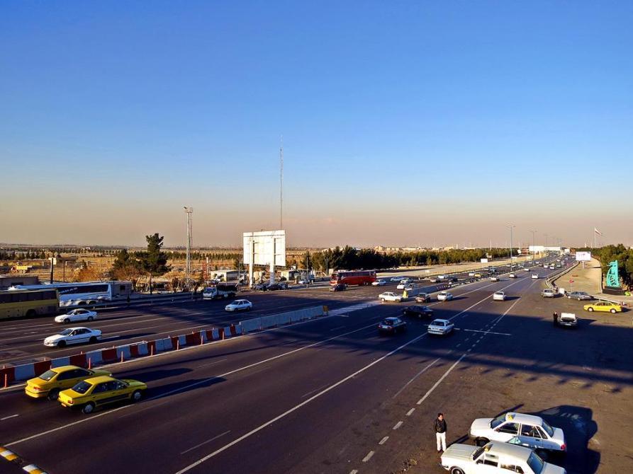 Schnellstraße von Teheran nach Ghom