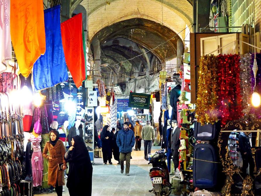 Basar-e Bosorg der große Markt von Isfahan, Iran