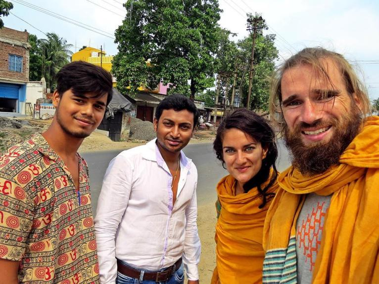 hitchhiking in Indien