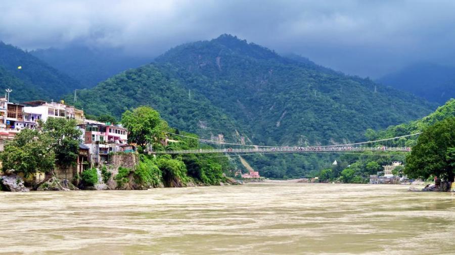 Lakshman Jhula, Ganges, Rishikesh, India