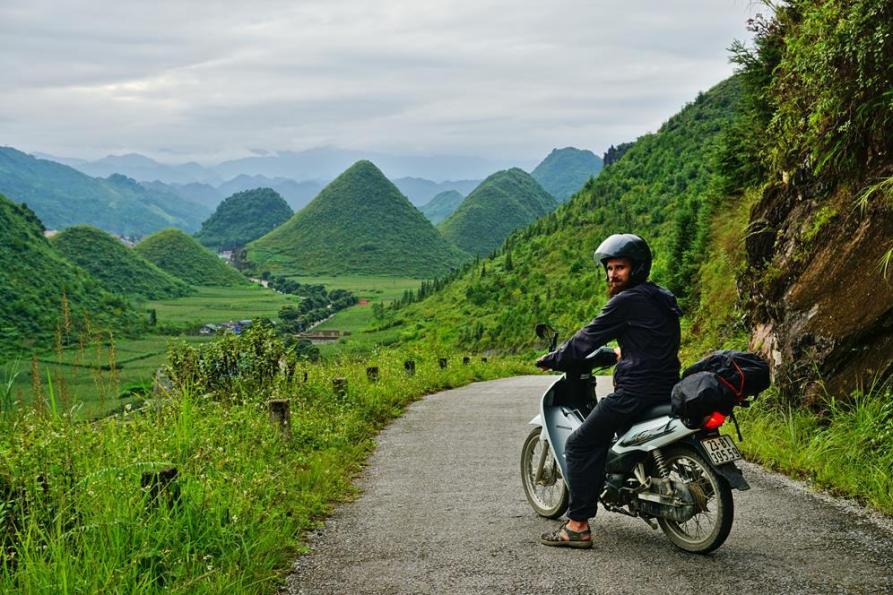 mit dem Roller durch das Bergland Vietnams