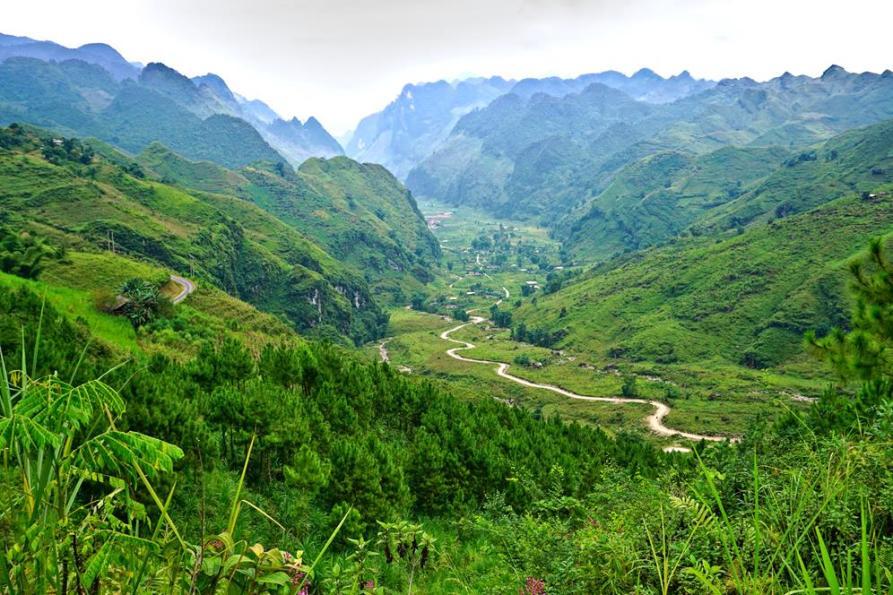 Panorama in der Bergen von Vietnam