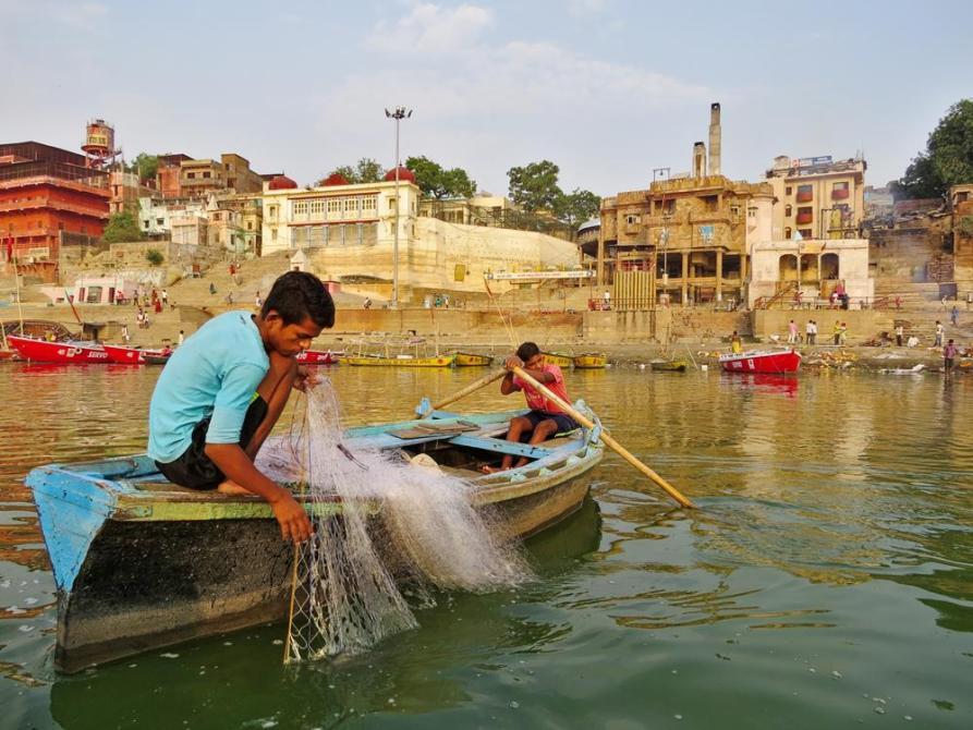 Fischer am Harishchandra Ghat, Varanasi
