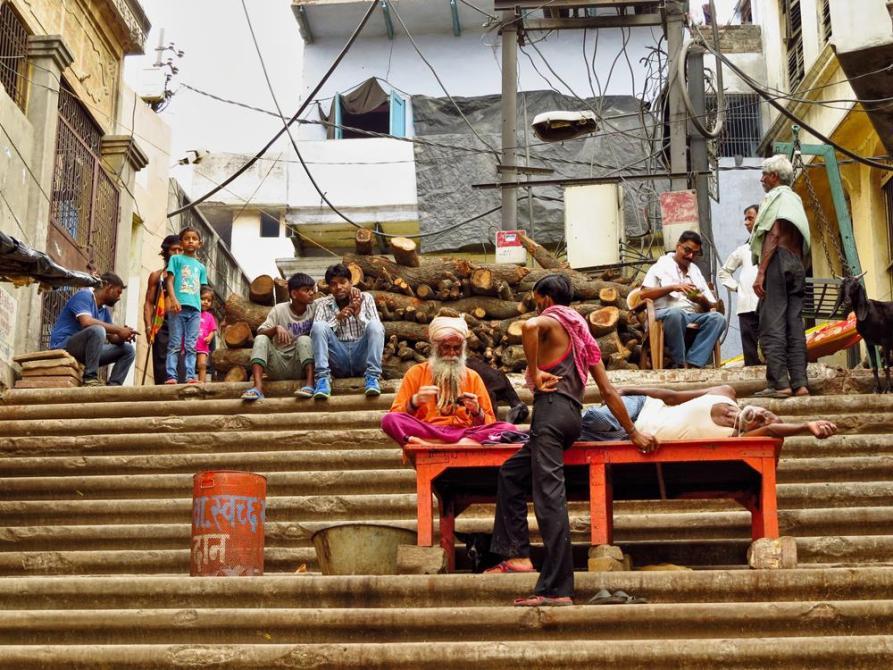 Sadhu am Manikarnika Ghat