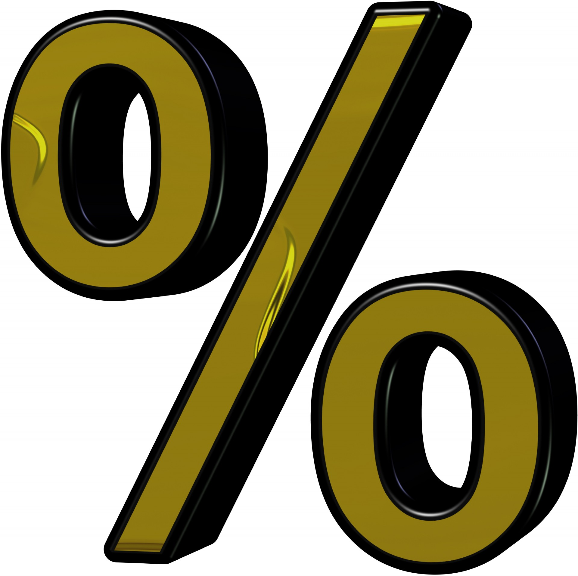 Percent sign for Mortgage Rates