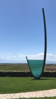 Ladle sculpture outside winery