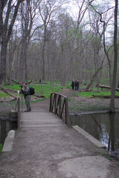 MAPS members heading into the woods.