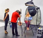 Morton Visuals photographing headshots in the studio