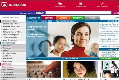 Wanadoo selects a popular stock photo model