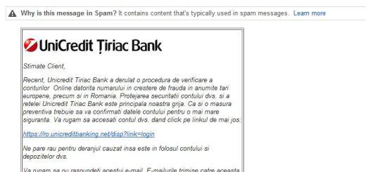 phishing unicredit tiriac