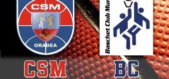 Baschet CSM Oradea vs BC Mures