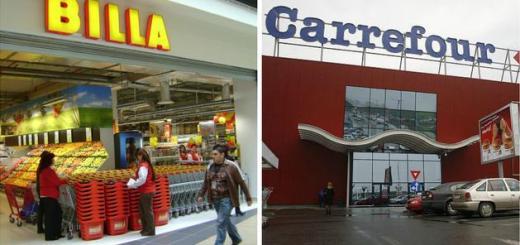 Carrefour si Billa