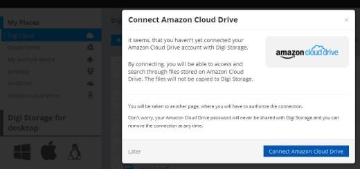 Amazon cloud drive in DigiStorage