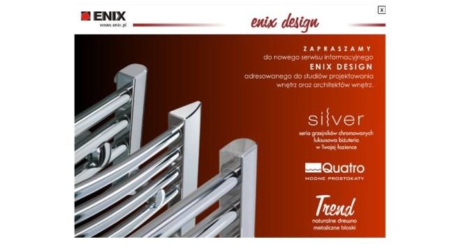 Enix - banner popup na stronę www