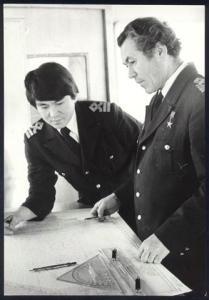 Былков - Василии Степановиче Былкове на капитанском мостике (архивная фотография)