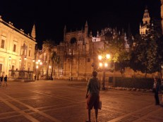 Seville Cathedral at night was possibly even more beautiful!