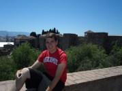 Simon at the top of the Alcazaba