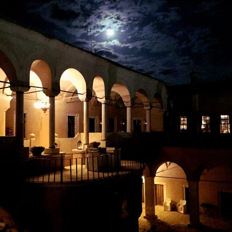 Imaret with a full moon