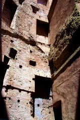 Remaining walls from the Baths of Diocletian (306 AD), behind Santa Maria degli Angeli