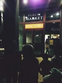 Students walk to the public market during the nightlife tour on June 21, 2013.