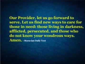 Let Us Find New Ways To Serve