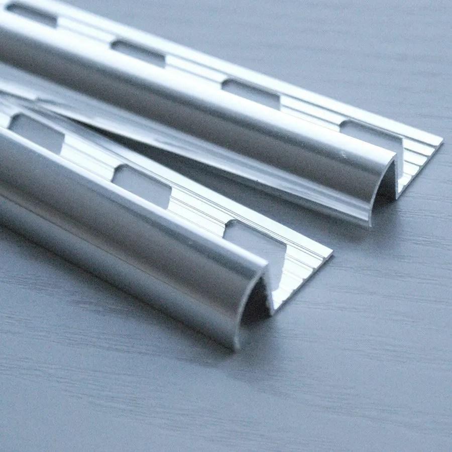 metal round edge tile trim 8mm x 5 lengths