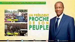 Journal de la Campagne du 20 Septembre - AC, PR proche du  peuple