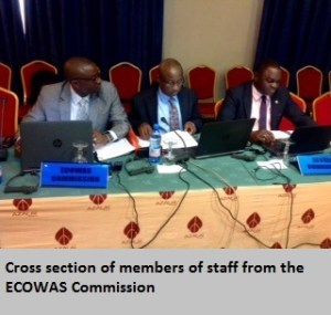 Cross section of members of staff from the ECOWAS  Commission