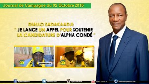 Journal de la Campagne du 2 Octobre - Kaloum et   Sadakaadji