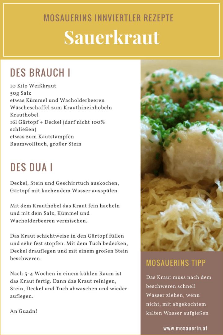 Mosauerins Innviertler Rezepte - Sauerkraut