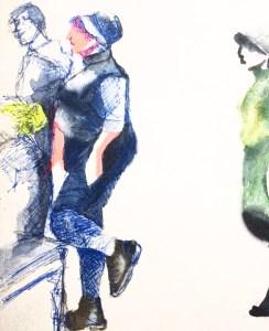 Touristes au louvre. apprendre à dessiner au Louvre