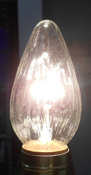 Clear Flame Lamp