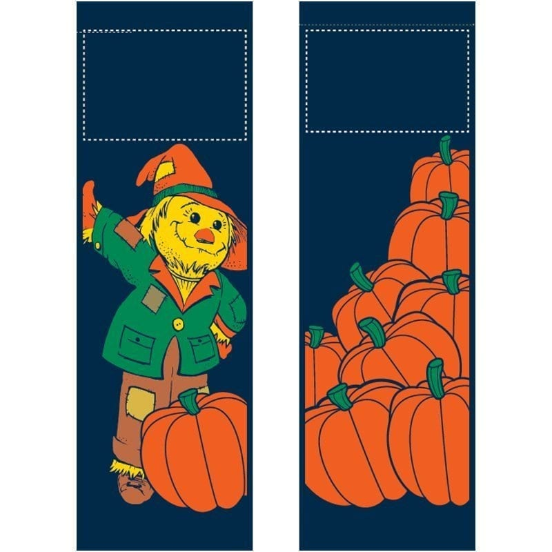 Mr Scarecrow set S13315 fall winter holiday banner