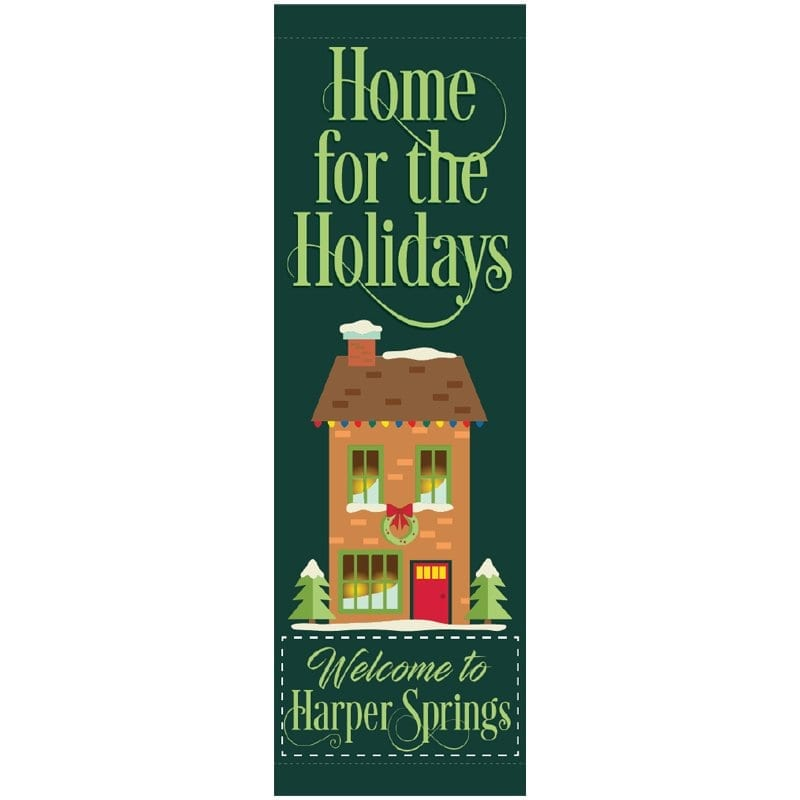 Home for the Holidays 20816 winter holiday banner