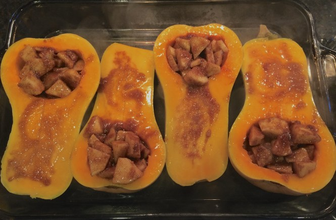 baked butternut squash & apples